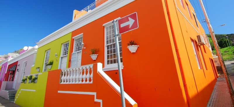 Bo Kaap colorful houses