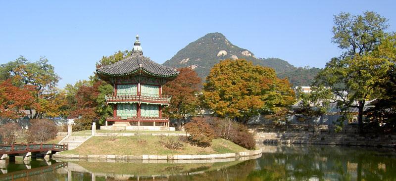 Emperors island Korean temple